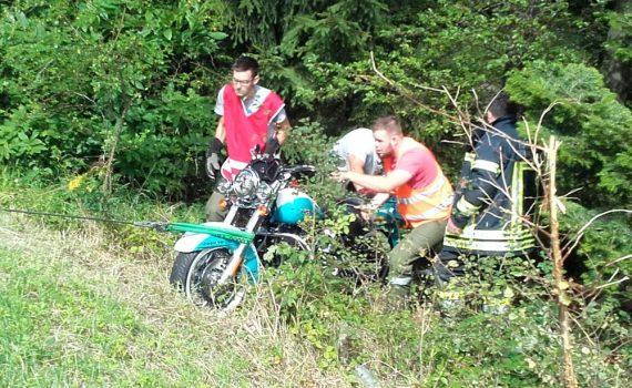 Schwerer Motorradunfall in Forchtenstein