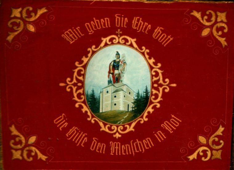 Fahne anlässlich der 100-Jahr Feier