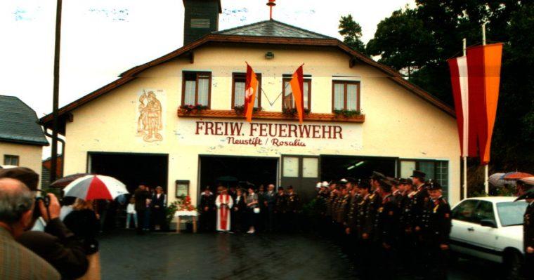 Weihe des neuen Gerätehauses am 21. August 1988
