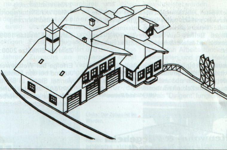 Plan-Ansicht für den Zubau am FF-Haus